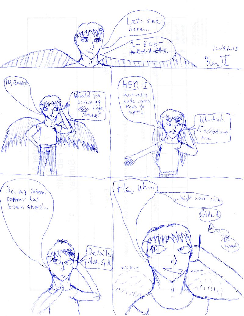 Seraphim comic flashback doodle